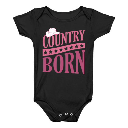 Country Born Baby Onesy