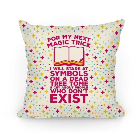 Book Magic Trick Pillow