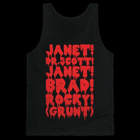 Janet, Dr. Scott, Janet, Brad, Rocky! Tank Top