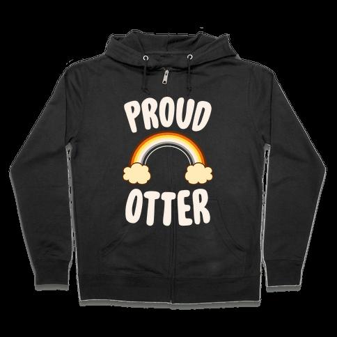 Proud Otter Zip Hoodie