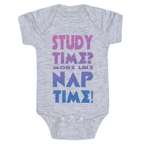 Study Time? More Like Nap Time! Baby Onesy