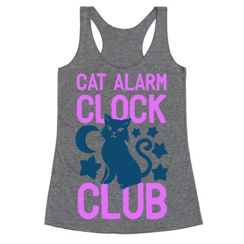Cat Alarm Clock Club Racerback Tank Top