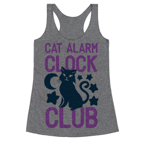 Cat Alarm Clock Club Racerback Tank Top