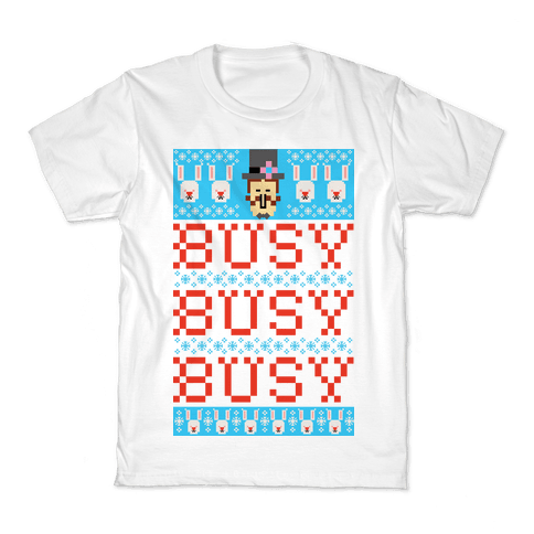 Busy Busy Busy Frosty Ugly Sweater Kids T-Shirt