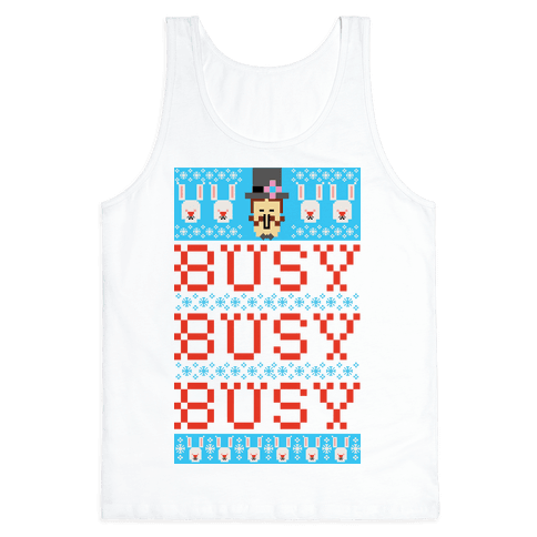 Busy Busy Busy Frosty Ugly Sweater Tank Top