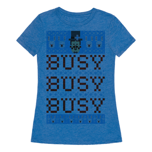 Busy Busy Busy Frosty Ugly Sweater T-Shirt | LookHUMAN