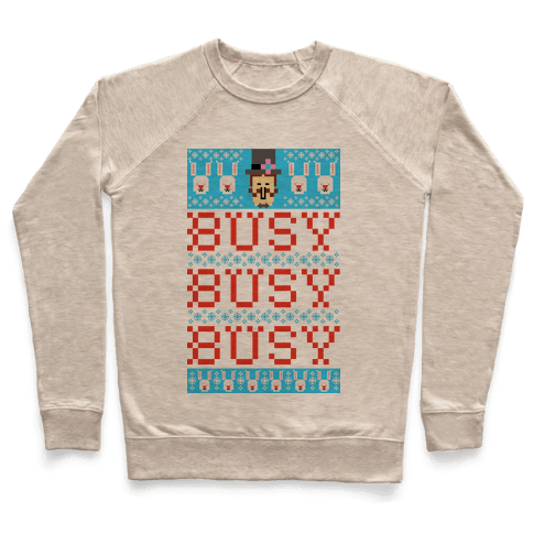 Busy Busy Busy Frosty Ugly Sweater Pullover