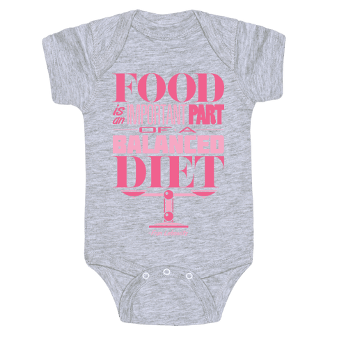 Food Diet Baby Onesy