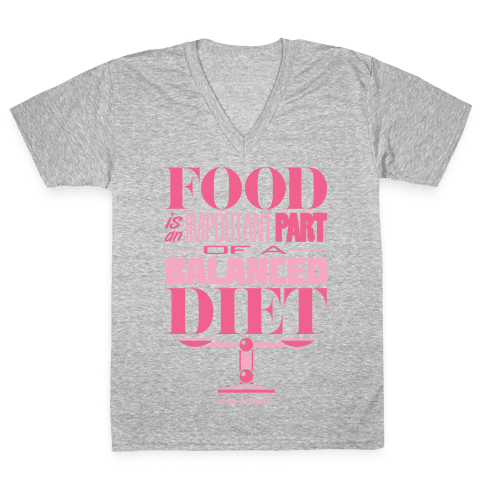 Food Diet V-Neck Tee Shirt