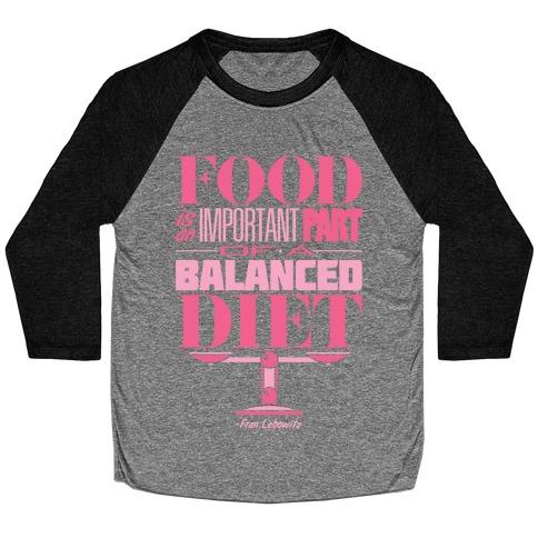 Food Diet Baseball Tee