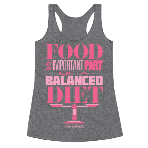 Food Diet Racerback Tank Top