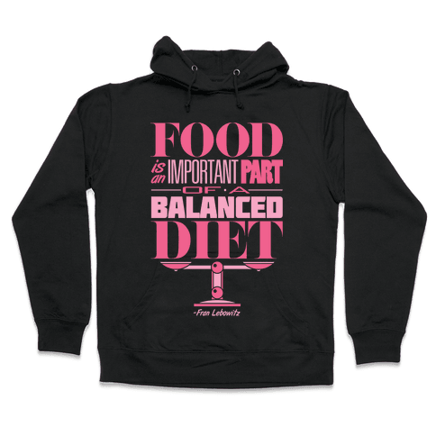 Food Diet Hooded Sweatshirt
