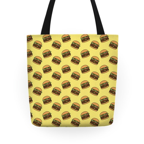 Double Cheeseburger Pattern Tote