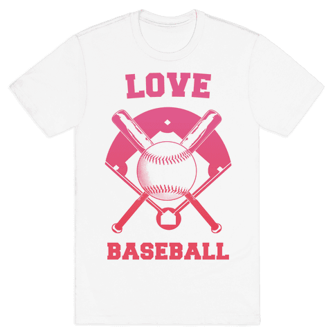 Love Baseball Mens T-Shirt