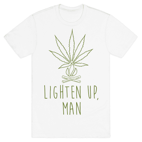 Lighten Up, Man Mens T-Shirt