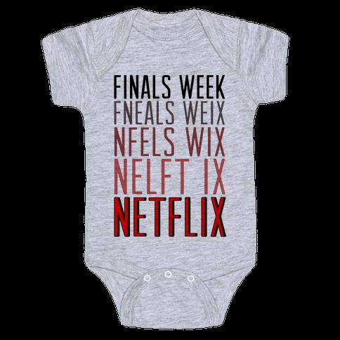 Finals Week Baby Onesy