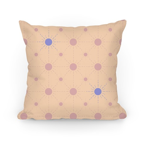 Sunshine Diamond Peach Pattern Pillow