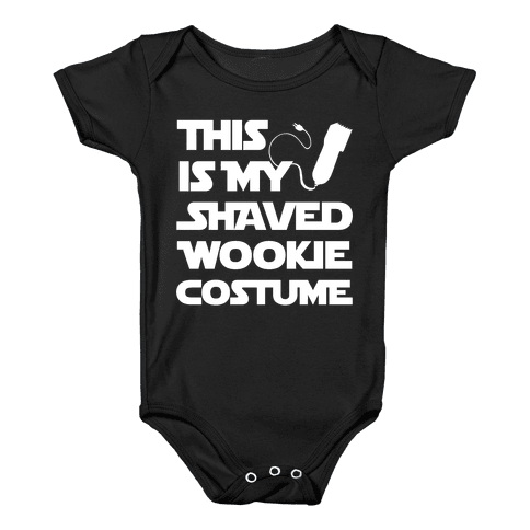 Shaved Wookie Costume Baby Onesy  sc 1 st  LookHUMAN & Wookie Baby Onesies | LookHUMAN