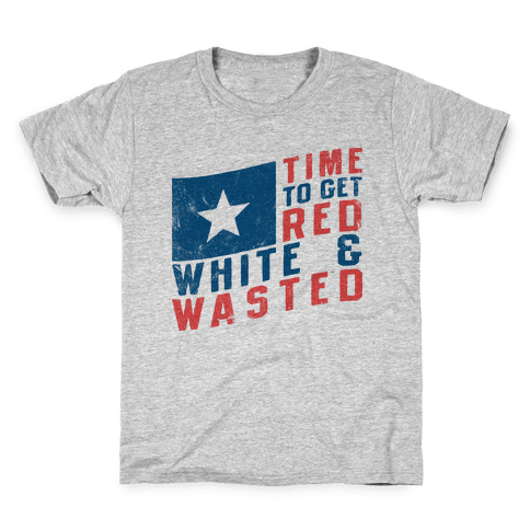 Red White And Wasted (Vintage Tank) Kids T-Shirt