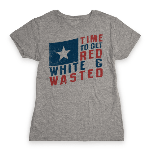 Red White And Wasted (Vintage Tank) Womens T-Shirt