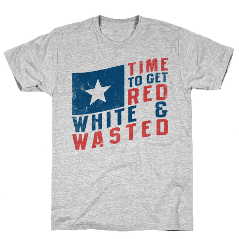 Red White And Wasted (Vintage Tank) Mens T-Shirt