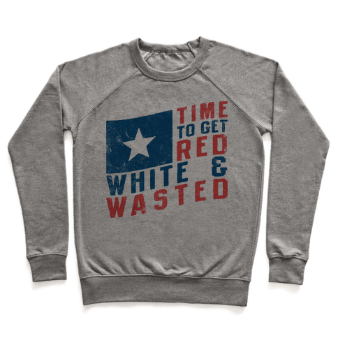 Red White And Wasted (Vintage Tank) Pullover