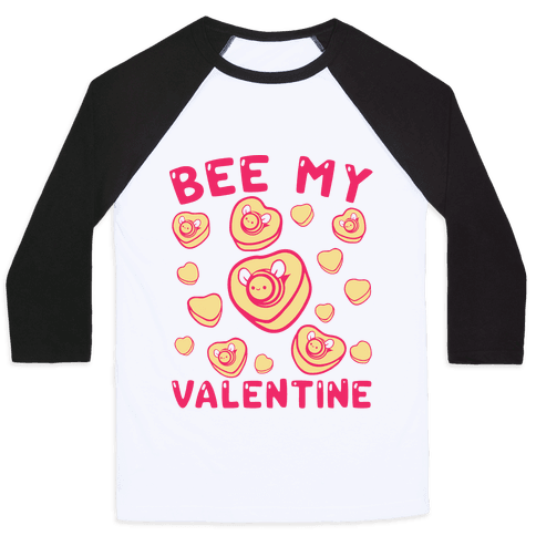 Bee My Valentine Baseball Tee
