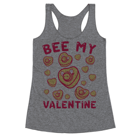 Bee My Valentine Racerback Tank Top