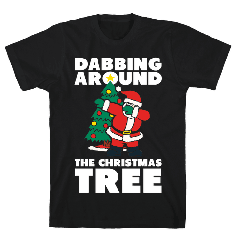 Dabbing Around The Christmas Tree Mens T-Shirt