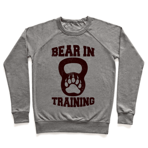 Bear In Training Pullover