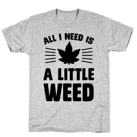All I Need Is A Little Weed T-Shirt