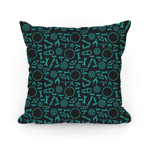 Bike Parts Pattern Pillow