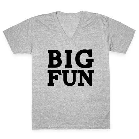 Big Fun V-Neck Tee Shirt