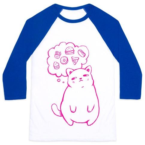 Tubby Cat Food Dreams Baseball Tee