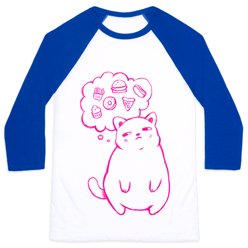 Tubby Cat Food Dreams Baseball Tee