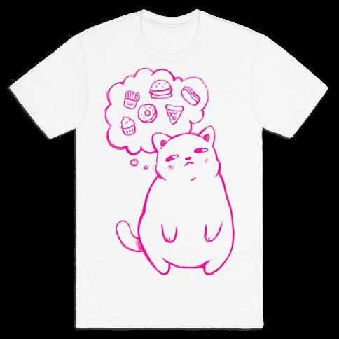 Tubby Cat Food Dreams Mens T-Shirt