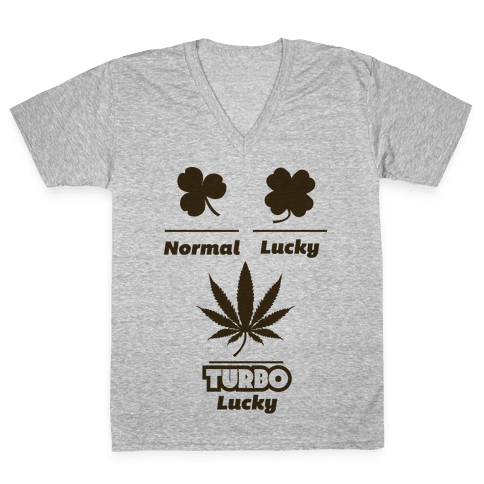 Turbo Lucky V-Neck Tee Shirt