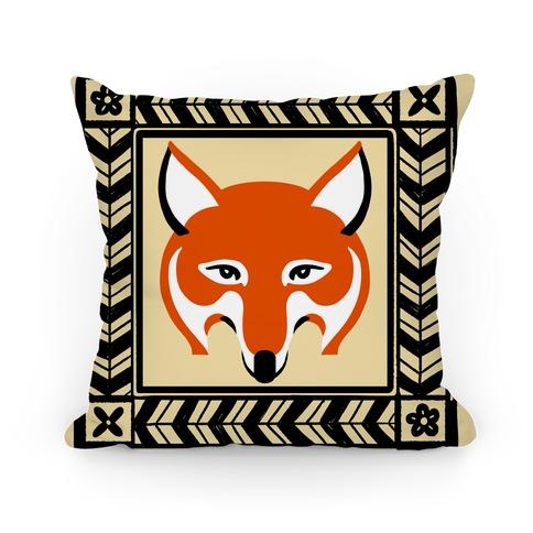 Curious Fox Pillow