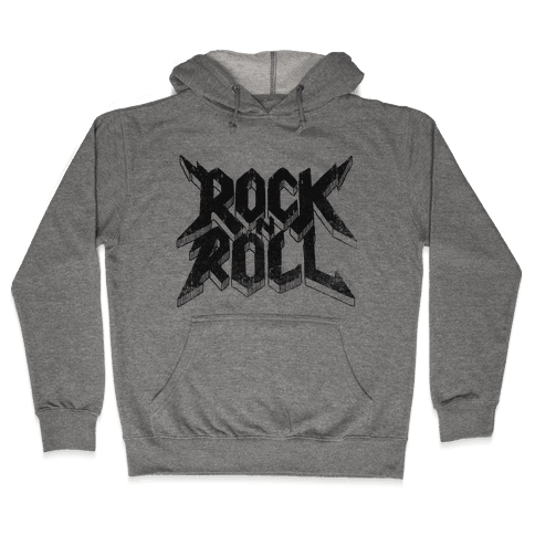 Rock n Roll (vintage) Hooded Sweatshirt