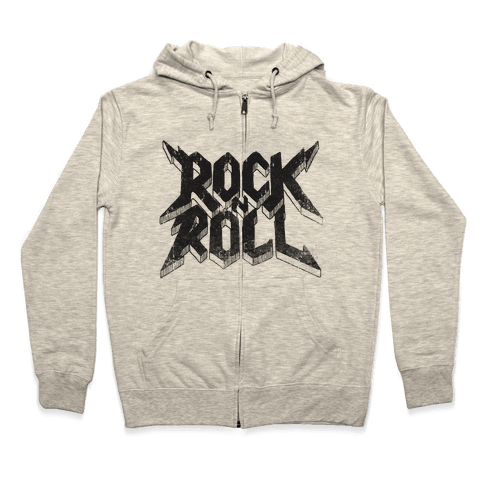 Rock n Roll (vintage) Zip Hoodie