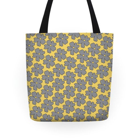 Gray Flower Tote Tote