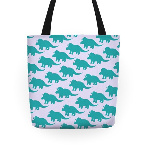 Triceratops Dino Pattern Tote