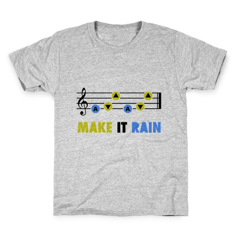 Make It Rain (Song Of Storms) Kids T-Shirt