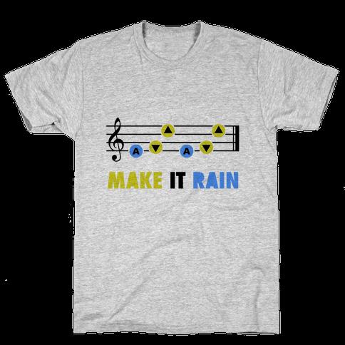 Make It Rain (Song Of Storms) Mens T-Shirt