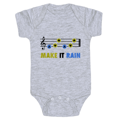 Make It Rain (Song Of Storms) Baby Onesy