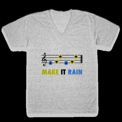 Make It Rain (Song Of Storms) V-Neck Tee Shirt