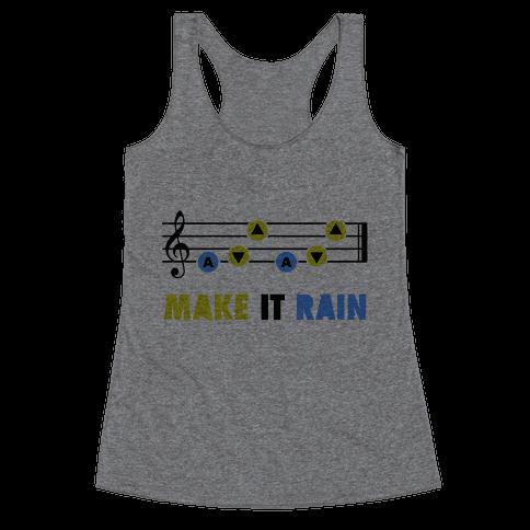 Make It Rain (Song Of Storms) Racerback Tank Top