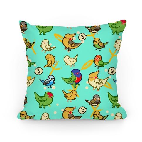 Bird Lover Pattern Pillow