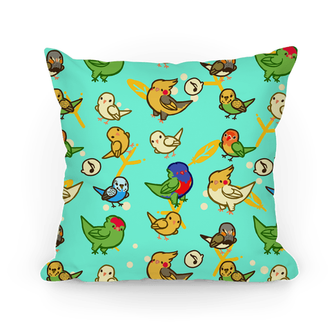 Bird Lover Pattern Pillow