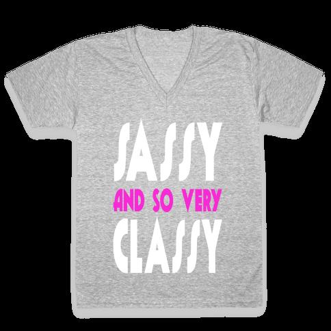 Sassy and so Very Classy. V-Neck Tee Shirt